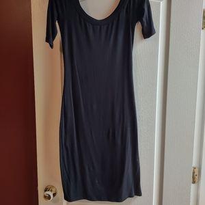 Simple black jersey dress by Velvet Torch